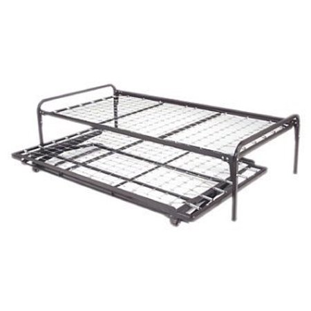 Twin Size Metal Day Bed Daybed Frame Pop Up Trundle With