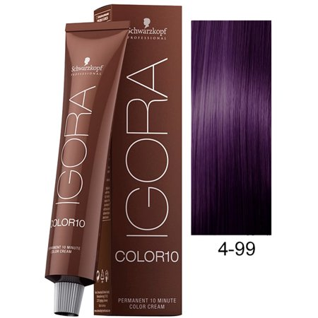 Schwarzkopf Igora Color10 10-Minute Hair Color, 4-99 Medium Brown