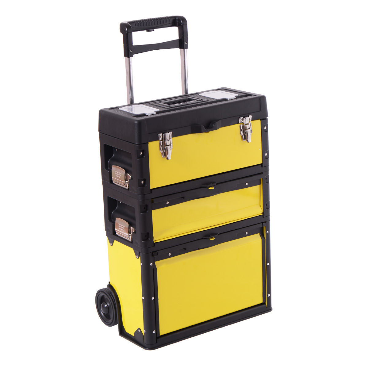 Costway Rolling Stacking Portable Metal Trolley Toolbox