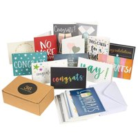 36 Pack Assorted All Occasion Greeting Cards - Includes Assorted Congratulations Graduation Cards - Bulk Box Set Variety Pack with Envelopes Included, 4 x 6 Inches