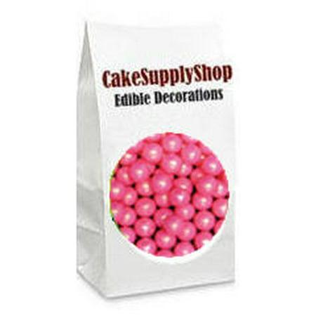 Edible Cake Decorations Pearls : Pink Edible Cake & Cupcake Decoration Pearls (Beads ...