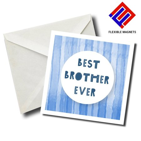 Best Brother Ever 2 Stylish Magnet for refrigerator. Great Gift! By Flexible (Best Refrigerator Pickles Ever)