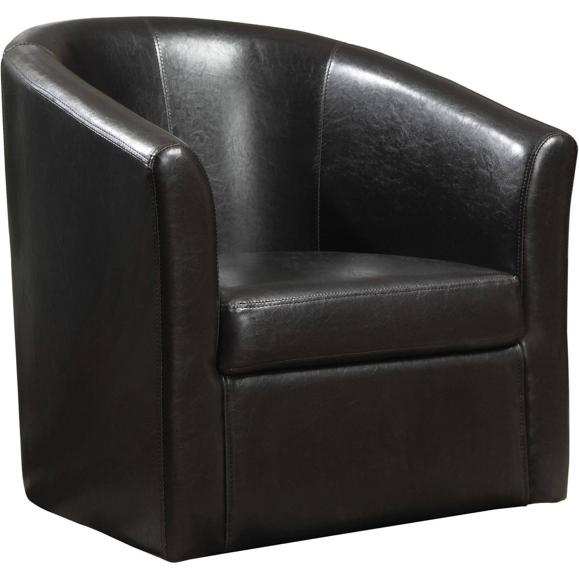 Coaster Company Accent Chair, Dark Brown Leatherette by Coaster Company