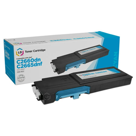 LD Compatible Replacement for Dell 593-BBBT High Yield Cyan Toner Cartridge for use in Color Laser C2660dn & C2665dnf 23 Compatible Replacement Cartridge Color