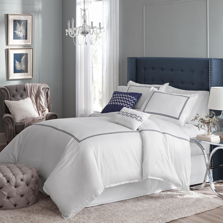 Hotel style easton 5 piece comforter set, Queen