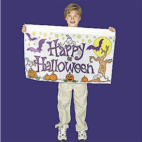 Color Your Own Halloween Banner - Make Your Own Halloween Yard Decor