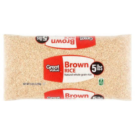 (3 Pack) Great Value Brown Rice, 5 lb