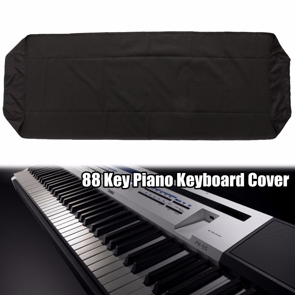 88Key Electronic Piano Keyboard Cover Protector Dustproof Dirt-proof 134x29x14cm
