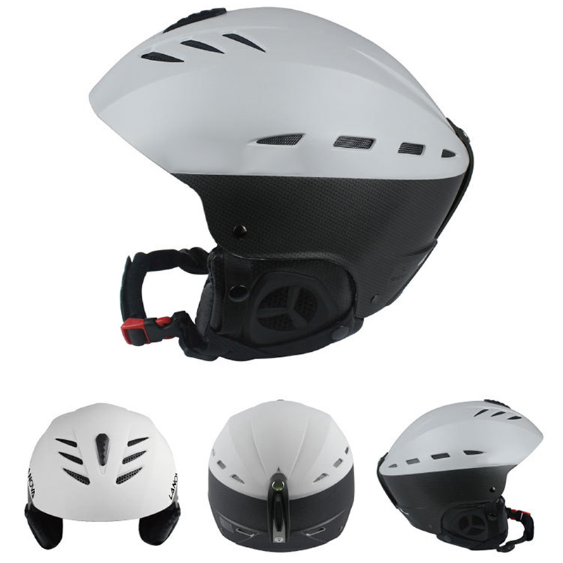 Women Men Adult Outdoor Sport Sturdy Ski Snowboard Bike Skate Helmet Sturdy ABS Shell Helmets White Size:M: 55-57CM by
