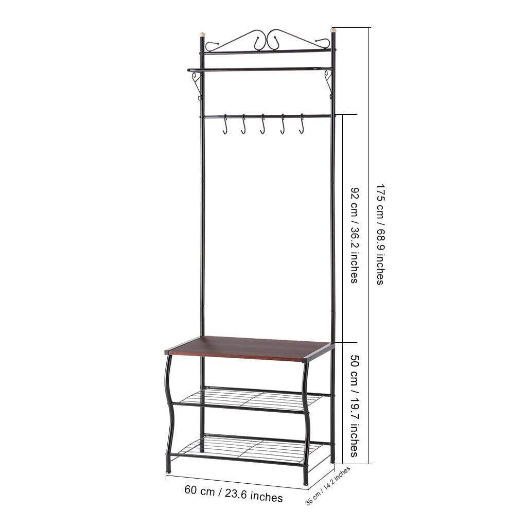 Coat Rack Stand Langria 3 In 1 Hall Tree Entryway Bench With Coat