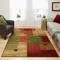 Mohawk Home New Wave Alliance Multi Printed Area Rug, 5'x8', Tan & Red