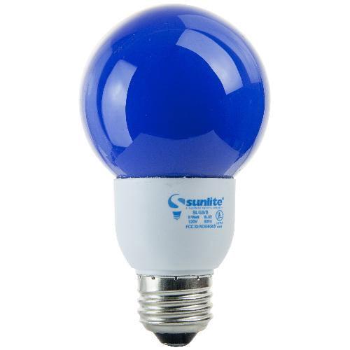 SUNLITE Compact Fluorescent 9W Colored Globes Blue Bulb