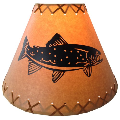 Millwood Pines Trout 9'' Paper Empire Lamp Shade