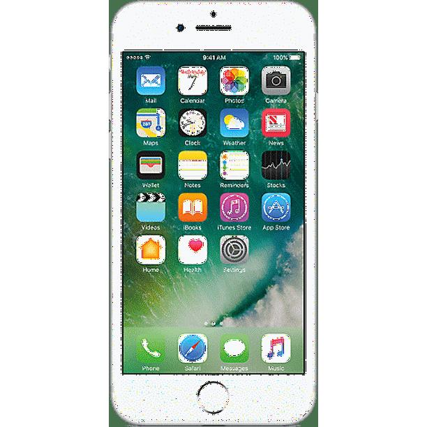 Verizon Apple Iphone 7 32gb Prepaid Smartphone Silver Walmart Com Walmart Com