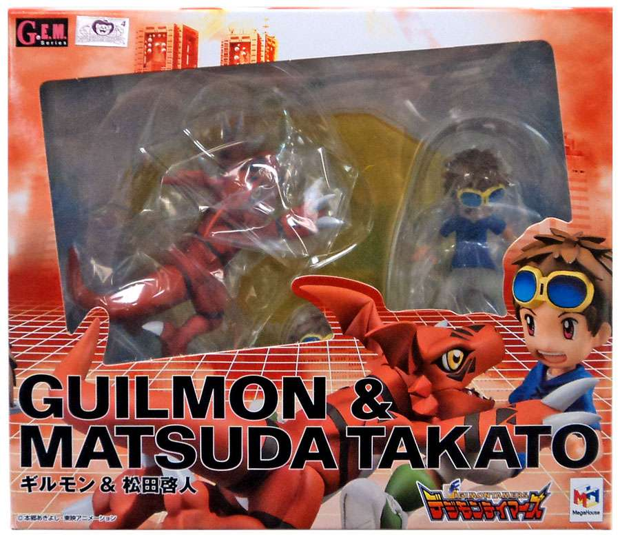 Digimon GEM Series Guilmon & Matsuda Takato PVC Figure by