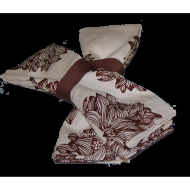 A Greener Kitchen CN002 Organic Cotton Napkins - Set of 2 - Evelyn-Chocolate Brown