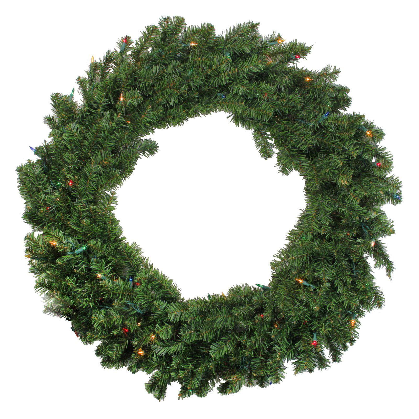 Darice Pre Lit Canadian Pine Christmas Wreath