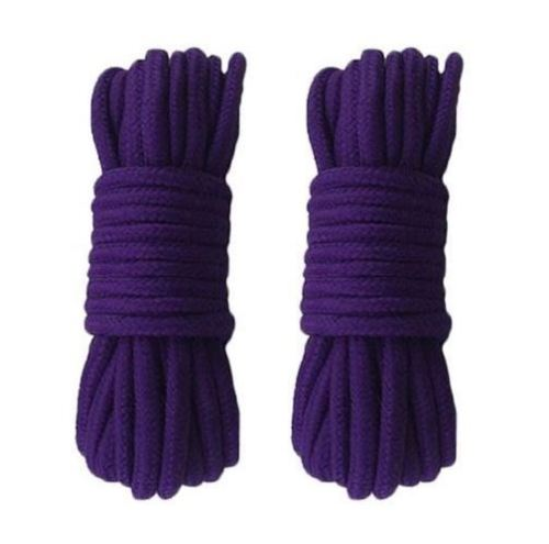 2 Pack All Purpose Collection Craft Braided Cotton Rope 32 FT Length 1/3 Inch Diameter Purple