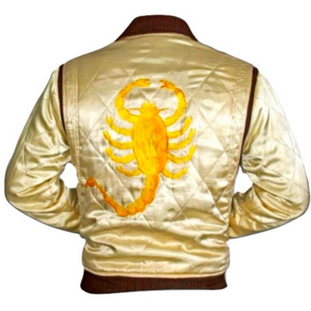 Scorpion Jacket Drive Ryan Gosling Movie Adult Satin Coat Driver Cosplay Costume for $<!---->