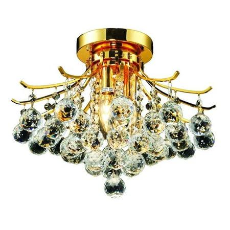 "Elegant Lighting Toureg 16"" 3 Light Elements Crystal Flush Mount - image 1 de 1"