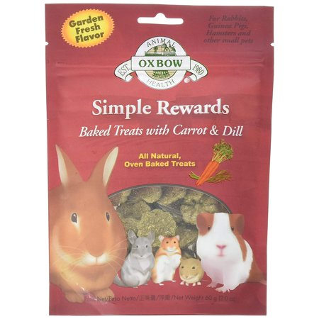 New Simple Rewards All Natural Oven Baked Treats with Carrots, Dill and Timothy Hay, 2 oz treats for rabbits, guinea pigs, hamsters and other small pets. By Oxbow - Rabbit's Foot For Sale