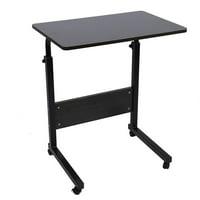 Tebru Portable Laptop Table, Portable Adjustable Height Laptop Computer Stand Desk Bed Side Reading Table, Laptop Computer Stand Desk