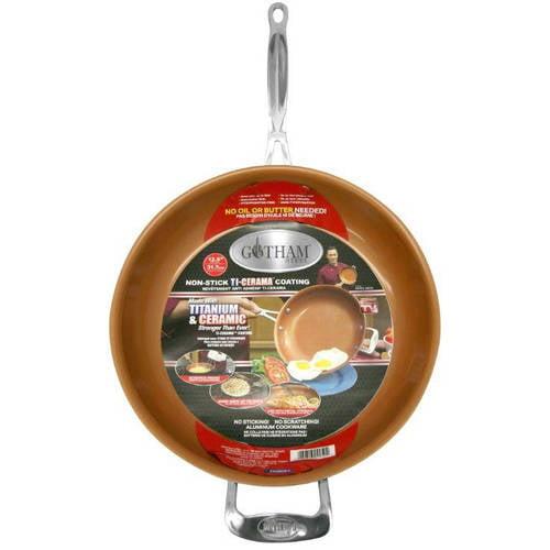 "Gotham Steel Titanium & Ceramic Dishwasher Safe Non-Stick 12.5"" Frying Pan, 1 Each"
