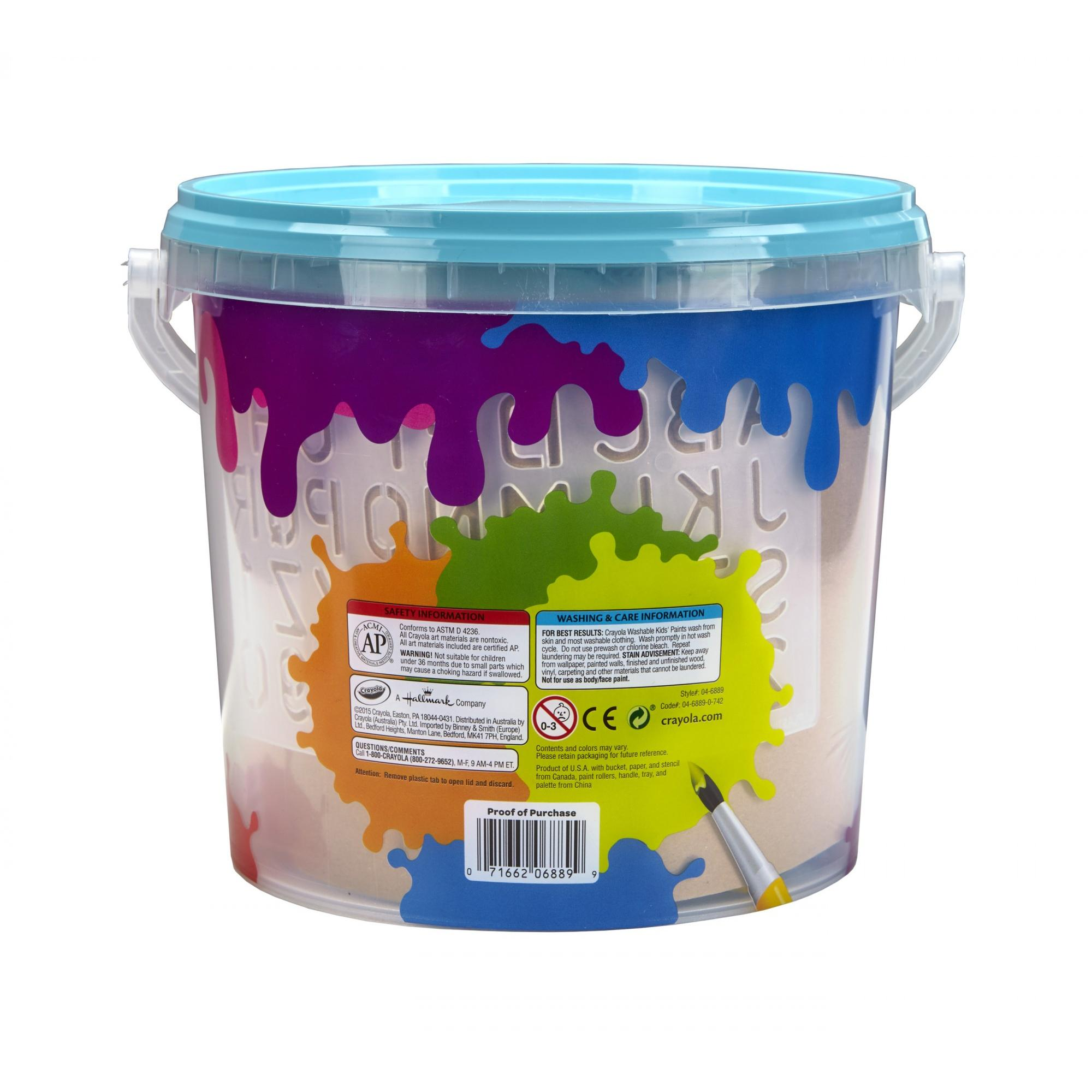 washable paint for wallsCrayola AllinOne Creative Paint Can Blue Great Gift for Kids