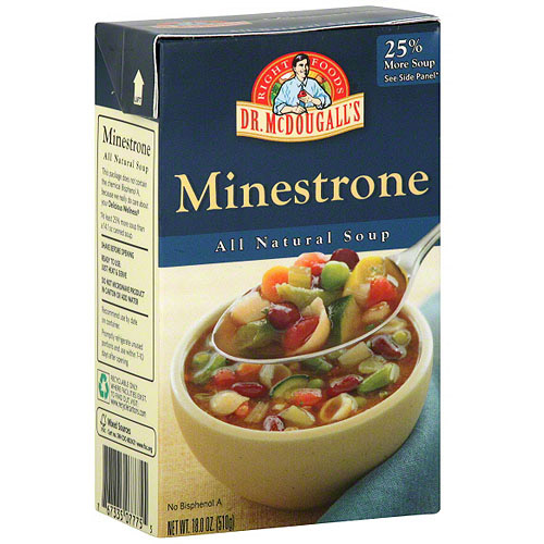Dr. McDougall's Minestrone Soup, 18 oz (Pack of 6)