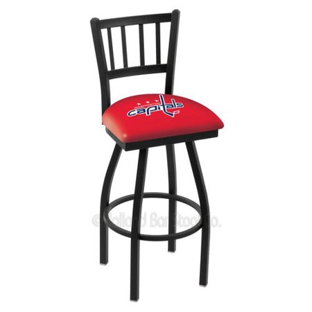 L018 Washington Capitals Swivel Bar Stool with Jailhouse Style Back by