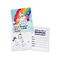 Fairytale Unicorn Party Supplies Invitations