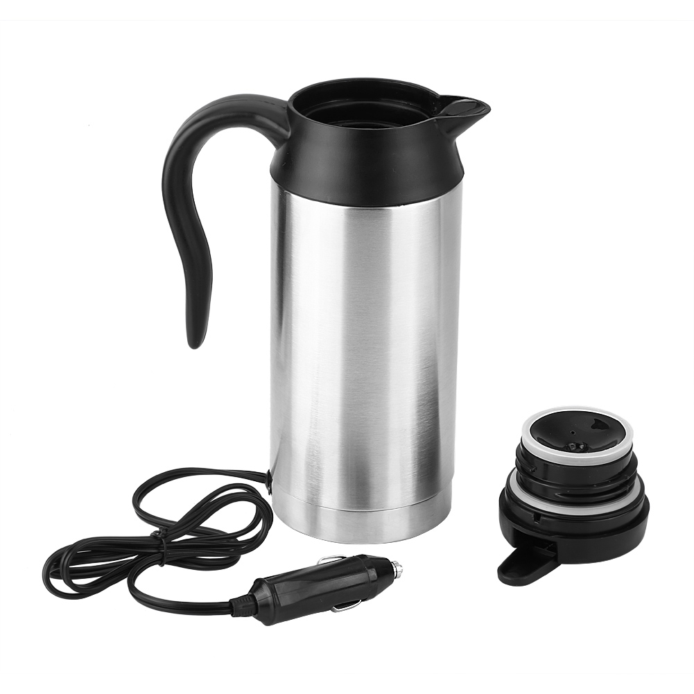zaqw heating cup 750ml 12v car stainless steel cigarette. Black Bedroom Furniture Sets. Home Design Ideas