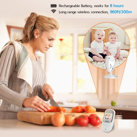 2.4'' LCD Screen Wireless Digital Baby Monitor,Baby Camera/Video Talk-Back Two-Way Audio,HD Night Vision,Temp Sensor,Baby Crying Warning Light,Stronger Signal,Clearer Image - image 1 of 12