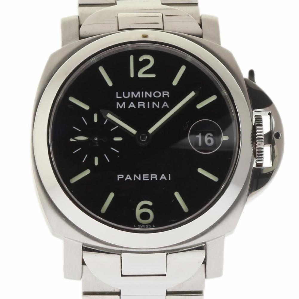 Pre-Owned Panerai Luminor PAM00050 Steel  Watch (Certified Authentic & Warranty)