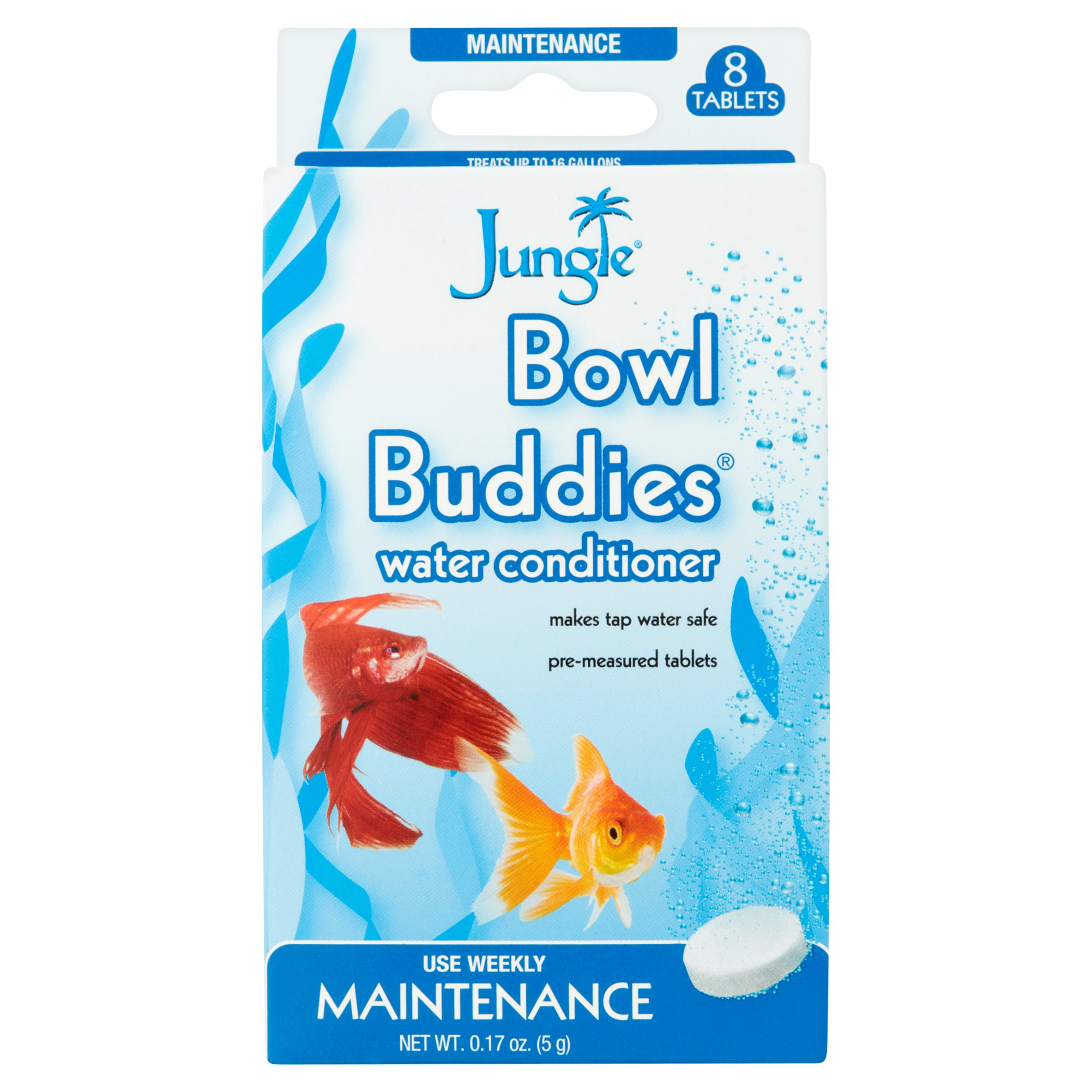 Jungle Bowl Buddies Water Conditioner for Aquariums, 8-Count