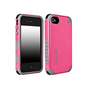 PureGear DualTek Extreme Case Cover +Screen Film for Apple iPhone 4 4S 4G (Pink)