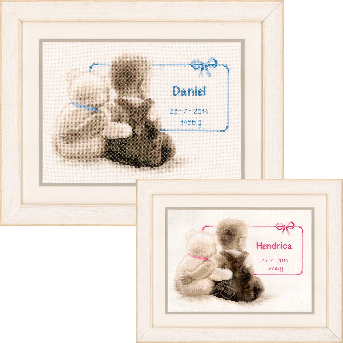 """My Favorite Teddy On Aida Counted Cross Stitch Kit-9.5""""X6.5"""" 14 Count"""