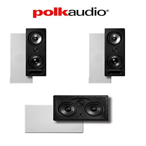 Polk Audio 265-LS + 255C-LS Vanishing Series 3.0 High Performance In-Wall Speaker System by Polk Audio