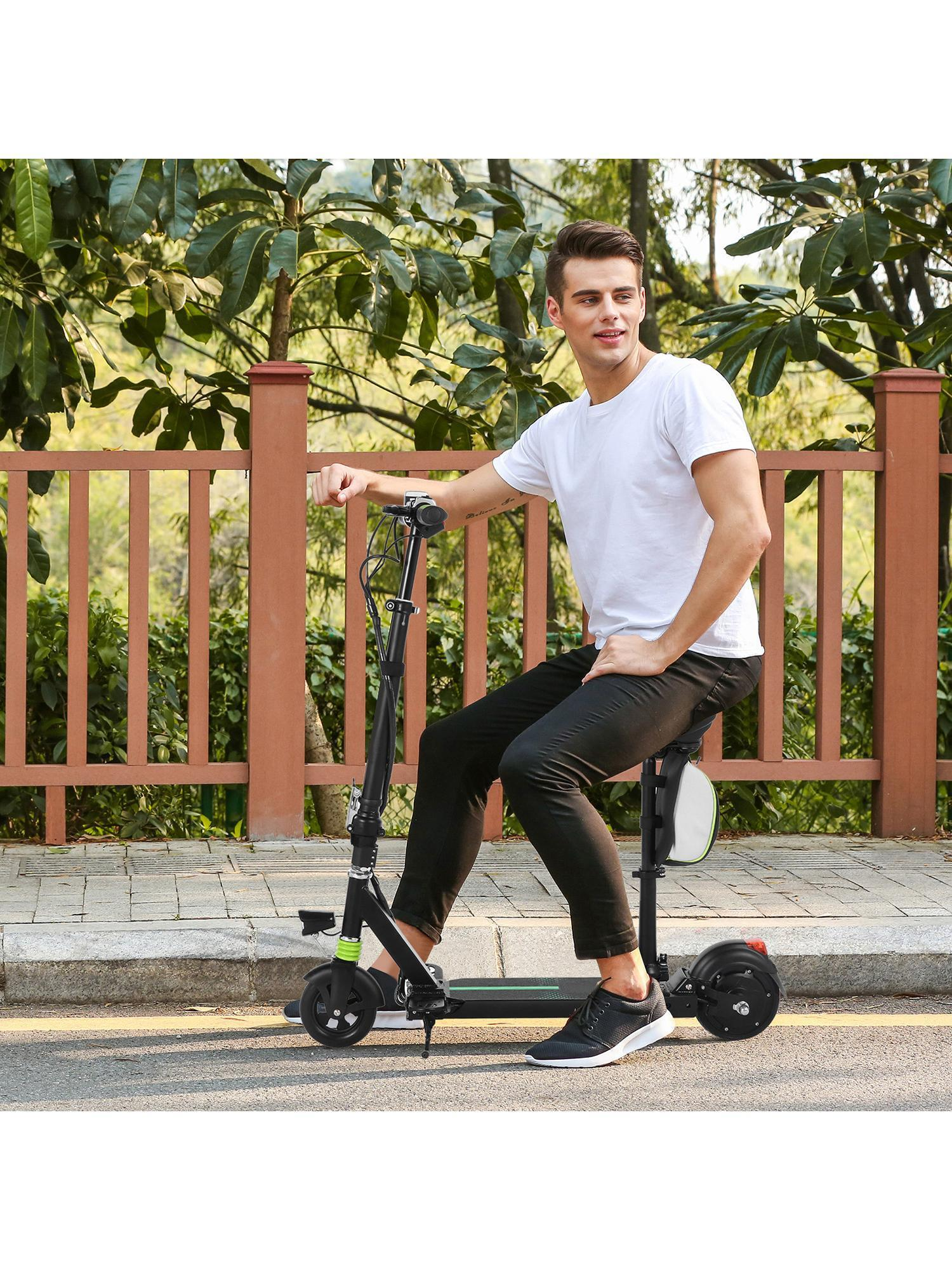 Holiday Saving!High Speed Foldable Height Adjustable Electric Scooter with Seat for Adults Teens, Lightweight Mini Ebike... by