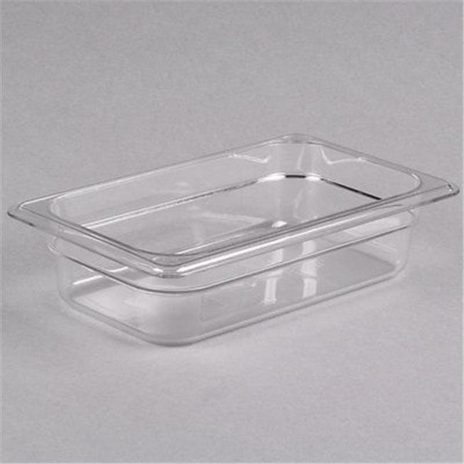 "6 PACKS : Cambro 42CW135 Clear 2-1/2"" H Camwear 1/4 Size Food Pan"