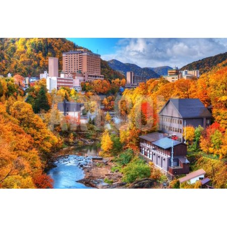 The Hot Springs Resort Town of Jozankei in the Northern Island of Hokkaido, Japan. Print Wall Art By