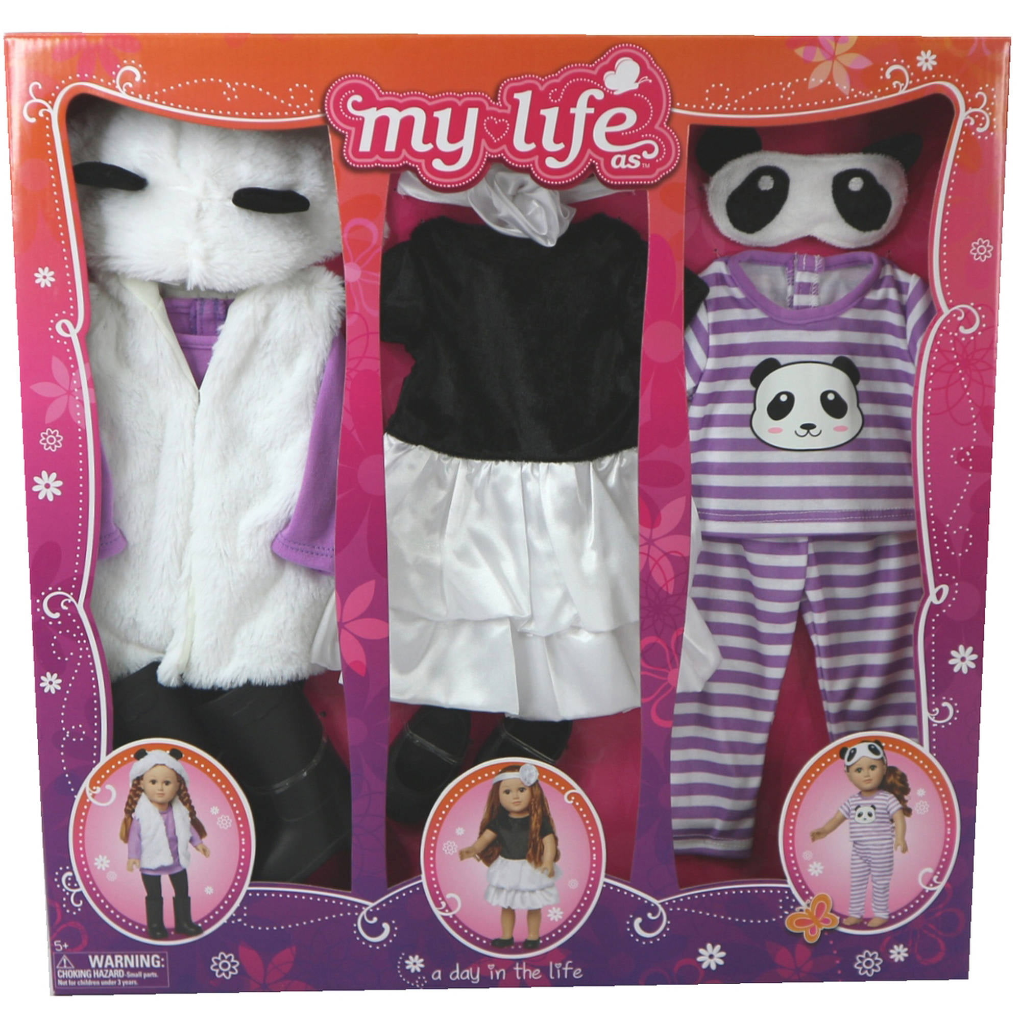 My Life As A Day in the Life Doll Clothing Set Panda Walmart