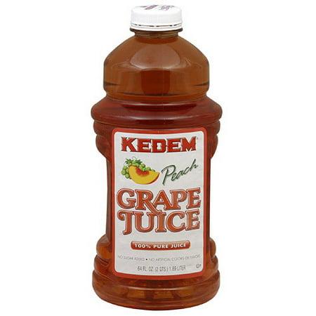 Kedem Fruit Juice, Peach Grape, 64 Fl Oz, 8 Count](Grape Orange Halloween Punch)