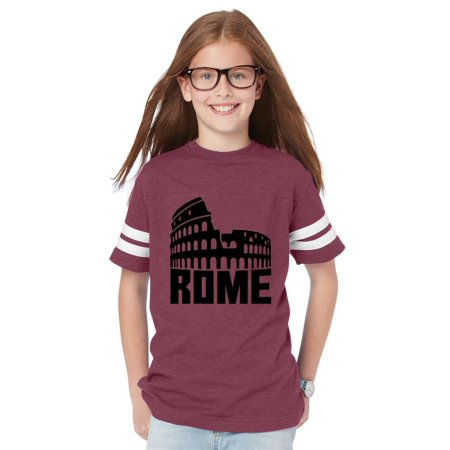 Rome Italy Youth Unisex Football Fine Jersey Tee