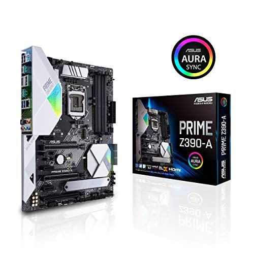 ASUS Prime Z390-A LGA 1151 (300 Series) Intel Z390 HDMI SATA 6Gb/s USB 3.1 ATX Intel Motherboard