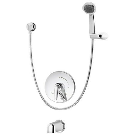 Elm Single Handle Tub and Hand Shower Faucet with Integral Diverter