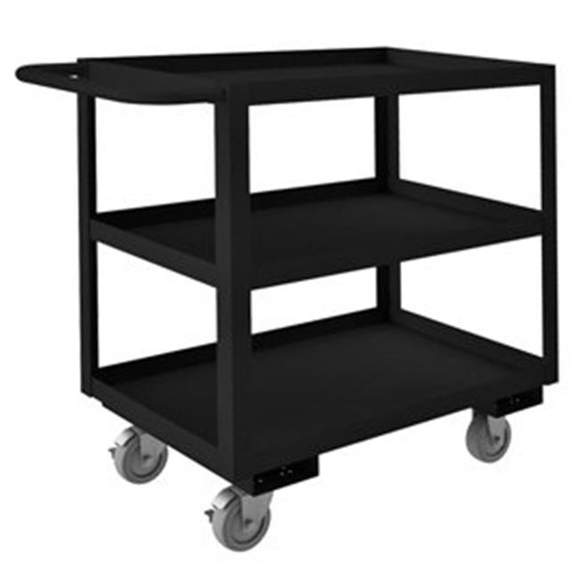 Durham RSC-183033-3-4PU-08T 33 in. Rolling Service Cart, Black - 1200 lbs