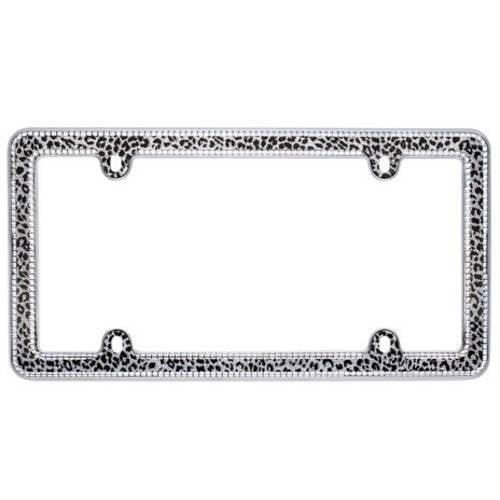 Auto Accessory Novelty 424 Paw Black License Plate Frame I Heart My Husky