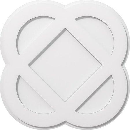Ekena Millwork CMP22CE 22 in. OD x 8.75 in. Square Charlotte Architectural Grade PVC Contemporary Ceiling Medallion - image 1 de 1