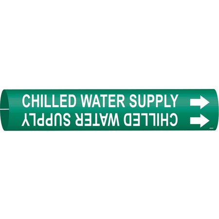 BRADY 4024-D Pipe Markr,Chilled Water SupplGn,4to6 (Brady Plastic Labels)
